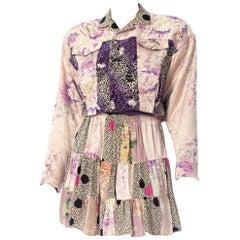 1980S Japanese Silk Ensemble Made From Kimonos
