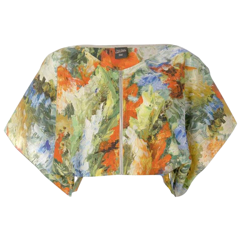 1980s Jean Paul Gaultier Abstract Print Top