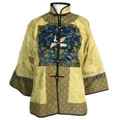 1980s Jenny Lewis Elaborate Embroided Needlepoint Woven Silk Jacket