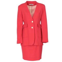 1980s Jil Sander Red Suit