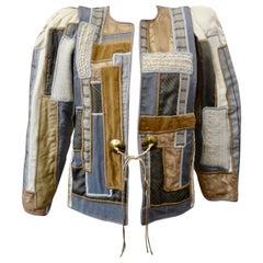 Judith Roberts 1980s Appliqué Patchwork Jacket