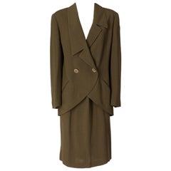 1980s Karl Lagerfeld Khaki Suit