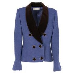 1980s Karl Lagerfeld purple blend wool jacket