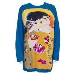 1980s Krizia Abstract Wool & Cashmere Sweater