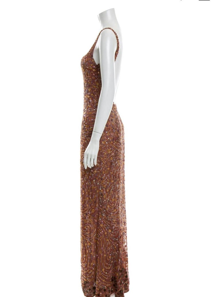 1980s Krizia beaded silk gown. 27