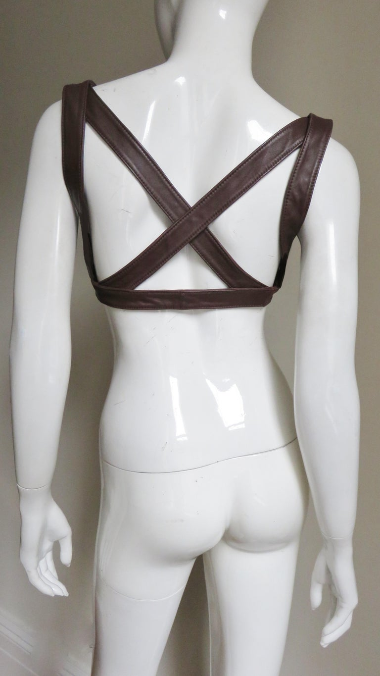 Krizia Leather Harness 1980s For Sale 6