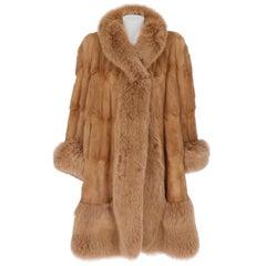 1980s Lady Cà D'oro Beige Pedigree Fox Fur Coat