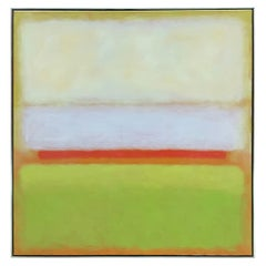 1980s Large Color Field Abstract Painting