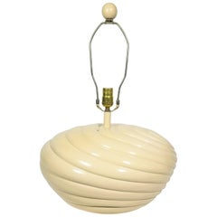 1980s Large Off White Shell Inspired Sculptural Table Lamp