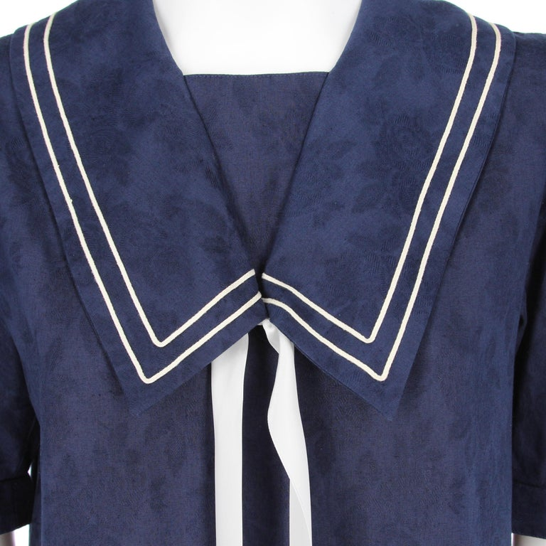 1980s Laura Ashley Blue Dress In Good Condition For Sale In Lugo (RA), IT