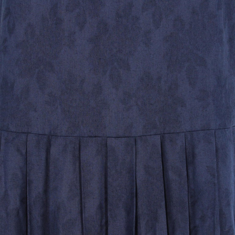 Women's 1980s Laura Ashley Blue Dress For Sale