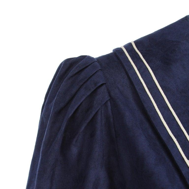 1980s Laura Ashley Blue Dress For Sale 1