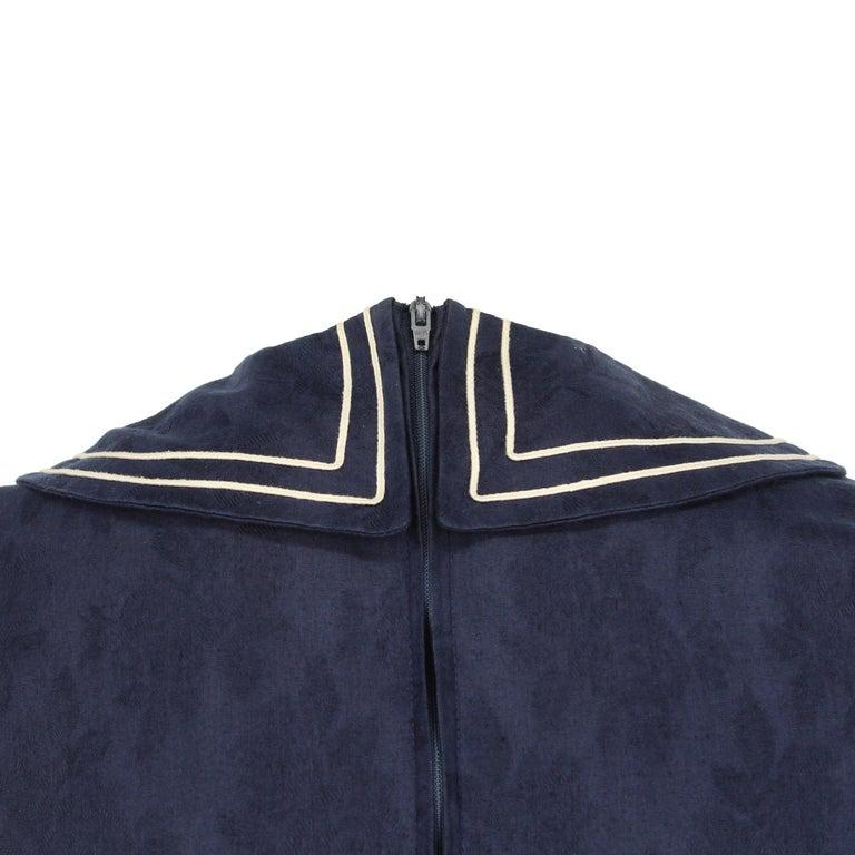 1980s Laura Ashley Blue Dress For Sale 2