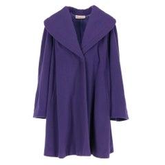 "1980s ""Laurapiù"" by Laura Biagiotti purple wool coat"