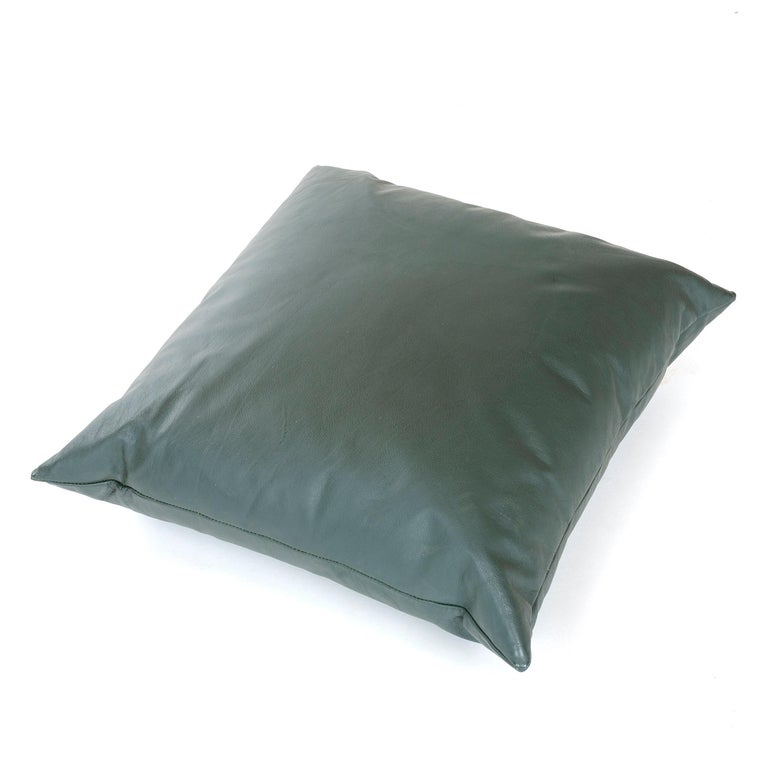 American 1980s Leather Pillow by Joe D'Urso for Knoll For Sale