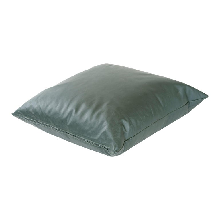 1980s Leather Pillow by Joe D'Urso for Knoll For Sale