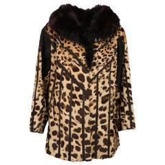 1980s Leopard And Fox Coat