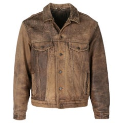1980s Levi's Brown Leather Jacket