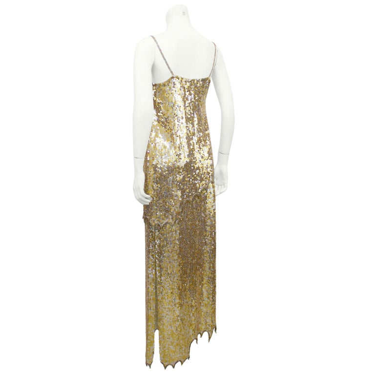 1980s Lillie Rubin Gold and Silver Sequin Ensemble  In Good Condition For Sale In Toronto, Ontario