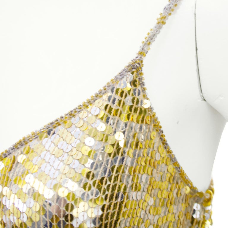 Women's 1980s Lillie Rubin Gold and Silver Sequin Ensemble  For Sale