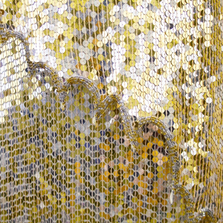 1980s Lillie Rubin Gold and Silver Sequin Ensemble  For Sale 1