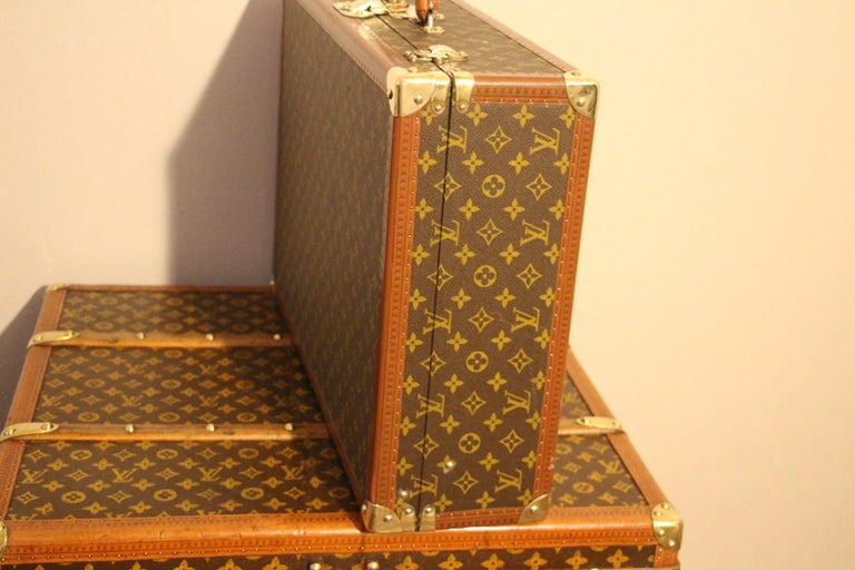 1980s Louis Vuitton Suitcase in Monogram Canvas For Sale 5