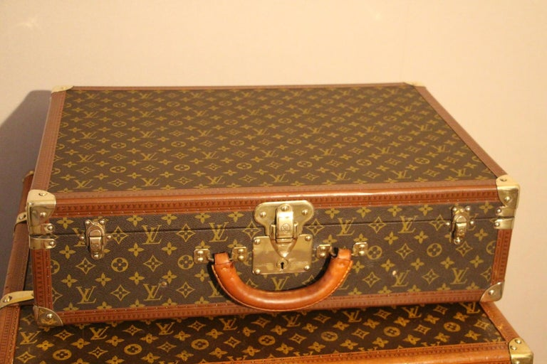French 1980s Louis Vuitton Suitcase in Monogram Canvas For Sale
