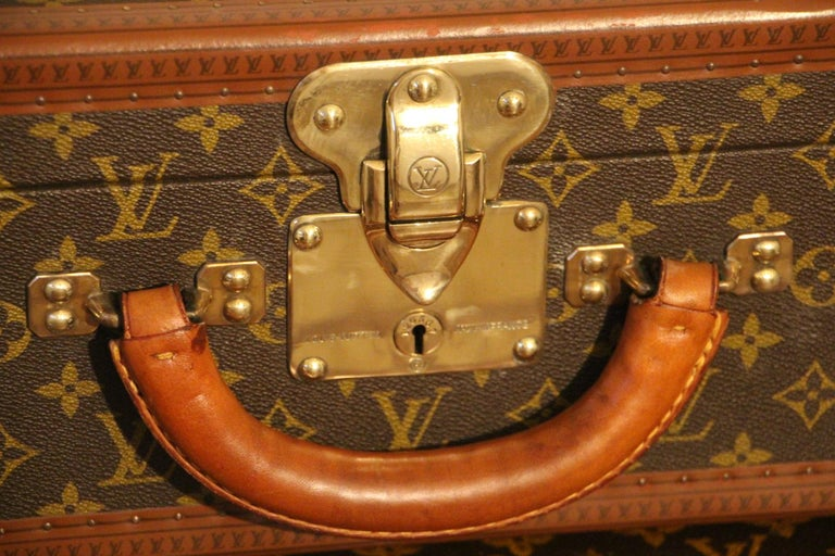 Late 20th Century 1980s Louis Vuitton Suitcase in Monogram Canvas For Sale