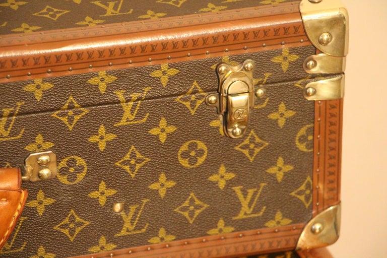 Brass 1980s Louis Vuitton Suitcase in Monogram Canvas For Sale
