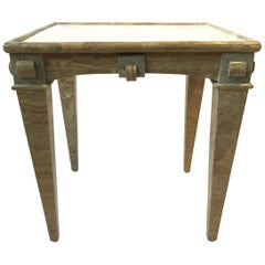 1980s Louis XVI Marble Side Table