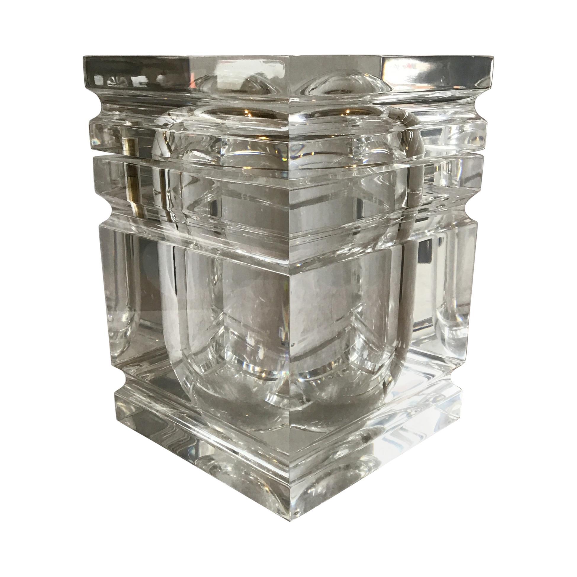 1980s Lucite Box / Ice Bucket