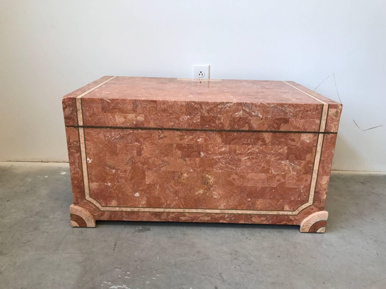 Philippine Robert Marcius for Casa Bique Tesselated Stone Trunk Coffee Table, 1980s For Sale
