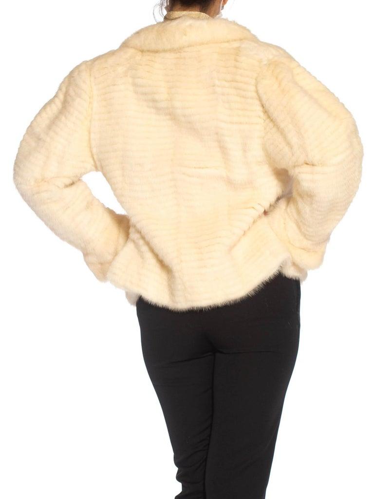1980S MAXIMILIAN White Mink Fur Perfect Little Jacket For Sale 6