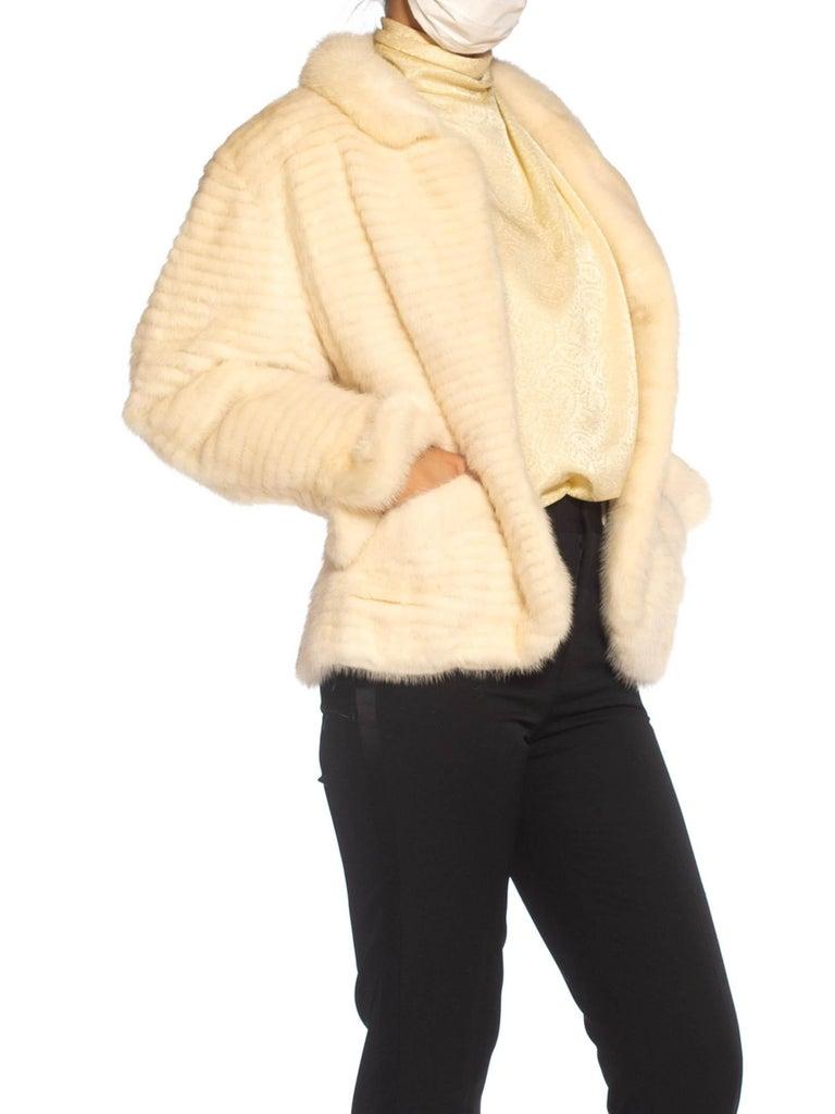 Orange 1980S MAXIMILIAN White Mink Fur Perfect Little Jacket For Sale
