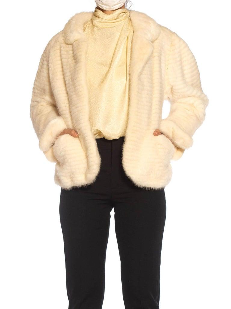 Women's 1980S MAXIMILIAN White Mink Fur Perfect Little Jacket For Sale