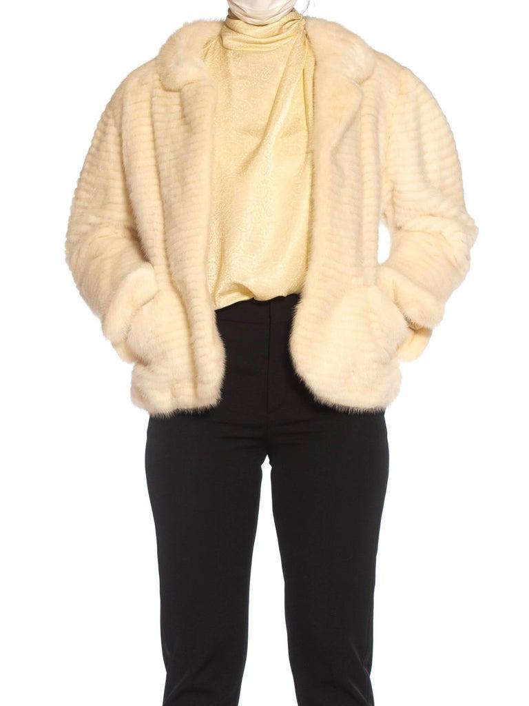 1980S MAXIMILIAN White Mink Fur Perfect Little Jacket For Sale 1