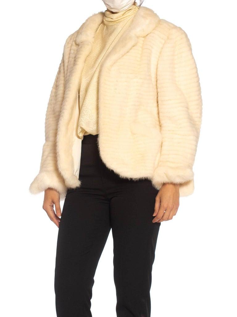 1980S MAXIMILIAN White Mink Fur Perfect Little Jacket For Sale 2