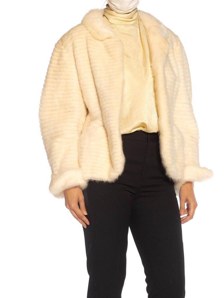 1980S MAXIMILIAN White Mink Fur Perfect Little Jacket For Sale 3