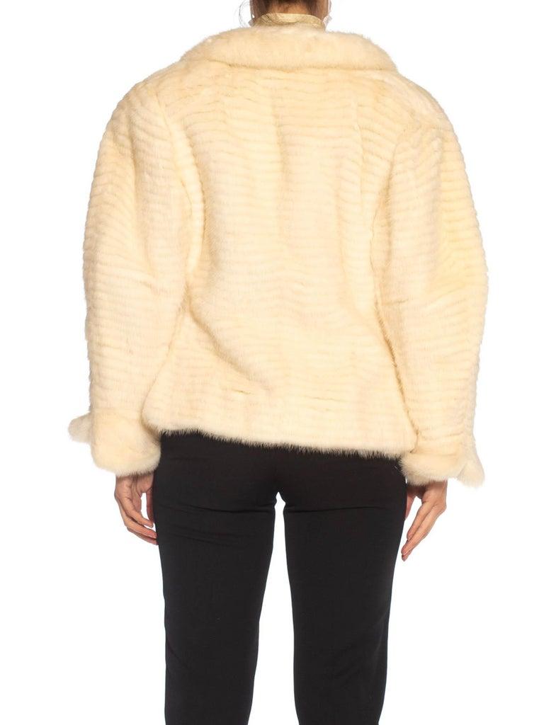 1980S MAXIMILIAN White Mink Fur Perfect Little Jacket For Sale 4