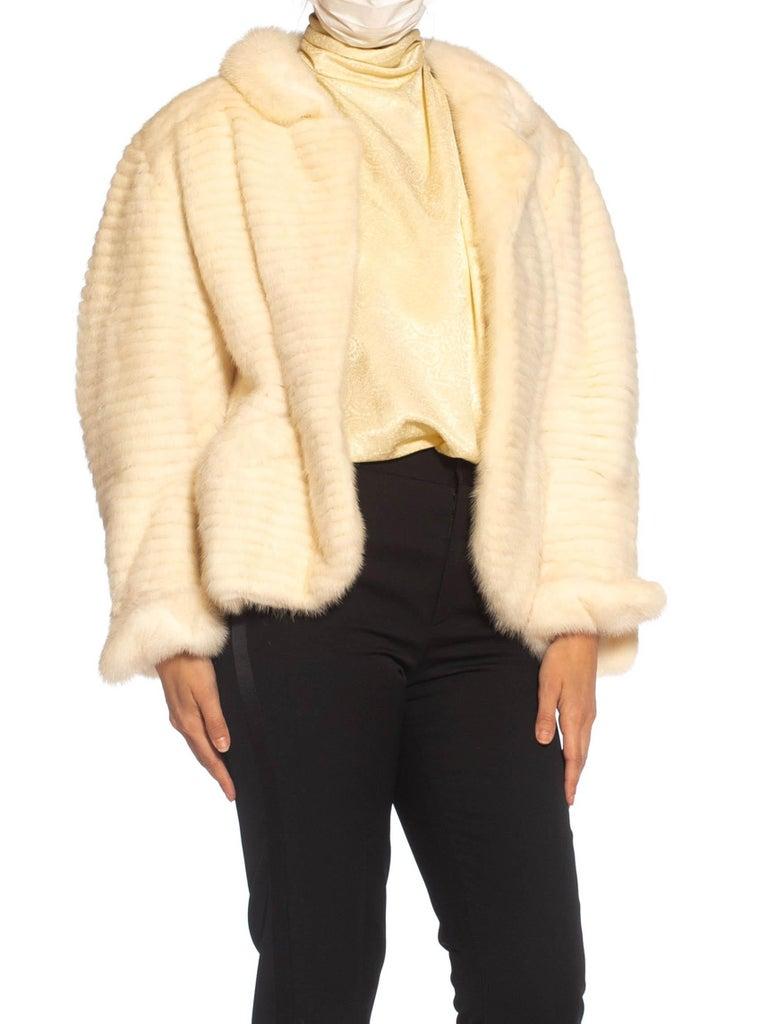 1980S MAXIMILIAN White Mink Fur Perfect Little Jacket For Sale 5
