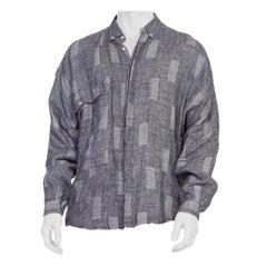 1980's Mens Gianni Versace Linen Shirt