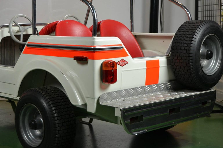 1980s Metal Carousel Police Jeep by  L' Autopède Belgium , Type Renegade Jeep For Sale 8