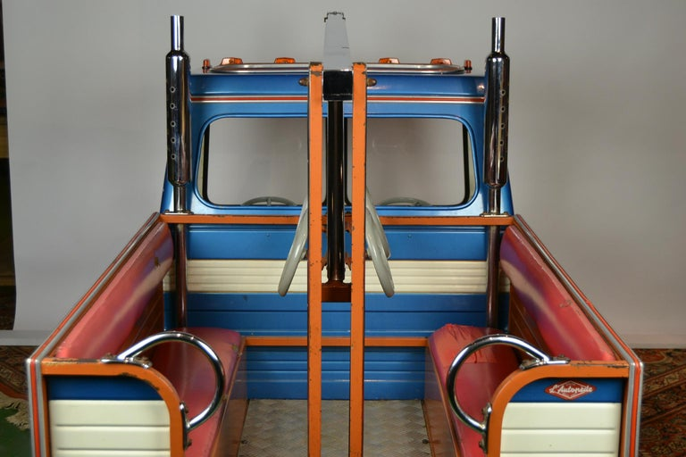 1980s Metal Carousel Tow Truck by L' Autopède Belgium For Sale 5