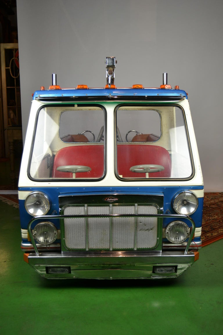 Industrial 1980s Metal Carousel Tow Truck by L' Autopède Belgium For Sale