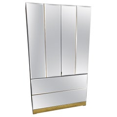 1980s Mirrored Armoire