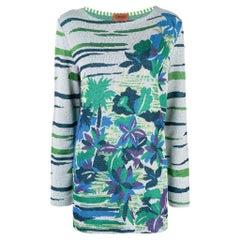 1980s Missoni Floral Pattern Sweater