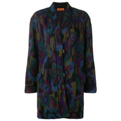 1980s Missoni multicolor midi coat