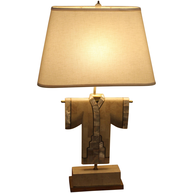 1980s Modern Kimono Lamp