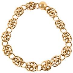 1980s Monet Gold Tone Choker Necklace