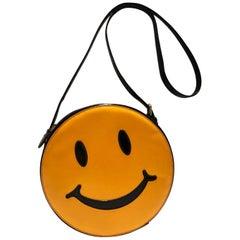 1980s Moschino acid face smiley shoulder bag